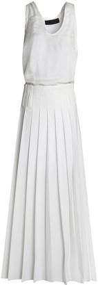 Haider Ackermann Silk And Pleated Poplin Maxi Dress