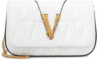 Versace Virtus quilted leather shoulder bag