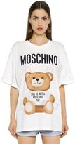 Moschino Oversized Bear Printed Jersey T-Shirt