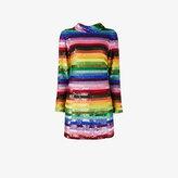 Ashish Rainbow sequined mini dress
