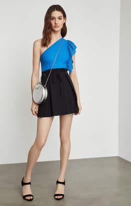 BCBGMAXAZRIA Tie-Front Mini Skirt