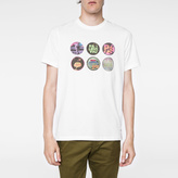 Paul Smith Men's White 'Badges' Print T-Shirt