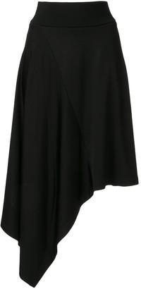 CK Calvin Klein Paneled Asymmetric Skirt
