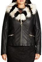 City Chic Faux Fur Francesca Jacket