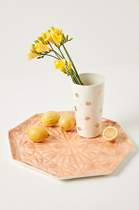 Anthropologie Heidi Capiz Decorative Tray By in Pink Size ALL