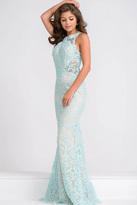 Jovani Sleeveless Fitted Lace Long Dress JVN36779
