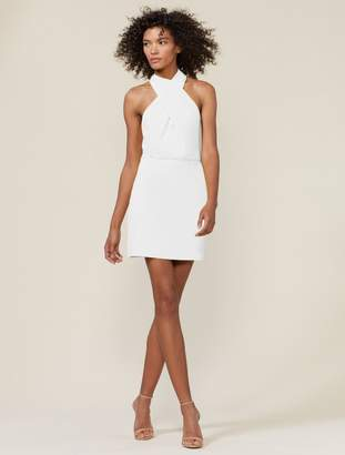 Halston SLEEVELESS CROSS NECK DRESS
