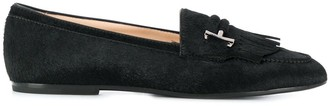 Tod's Double T plaque loafers