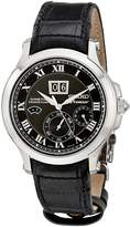Seiko Men's SNP041P2 Leather Synthetic Analog with Dial Watch