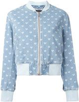 Diesel denim heart bomber jaket - women - Cotton/Polyester - S