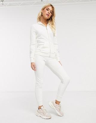 Lipsy velour pant in cream