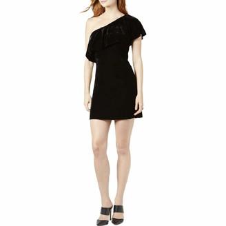 Kensie Women's Velvet One Shoulder Dress
