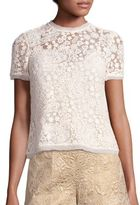 RED Valentino Floral Lace Top