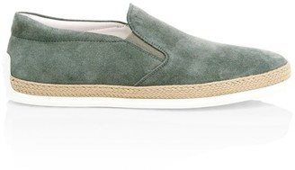 Tod's TV Suede Espadrille Sneakers