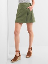 Wrap utility mini skirt