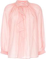 Vilshenko ruffled front blouse