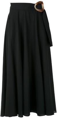 Isolda Guava linen skirt