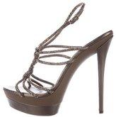 Rene Caovilla Embellished Platform Sandals