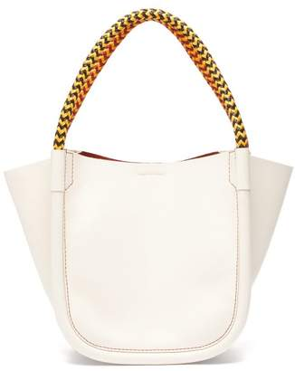 Proenza Schouler Xs Rope-handle Leather Tote - Womens - White