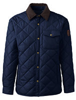 Lands' End Men's Quilted Primaloft Shirt Jacket-Ash