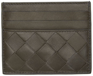 Bottega Veneta Grey Intrecciato Card Holder