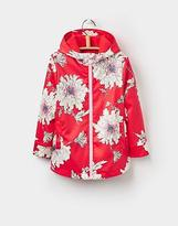 Joules Raindance Waterproof Rubber Coat 1 6yr in Red Peony Print