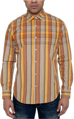 Sean John Men Oversize Repeat Plaid Shirt