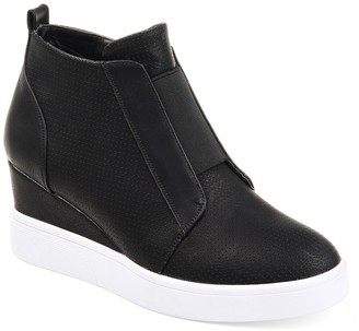 Journee Collection Clara Wedge Sneaker