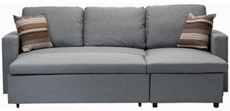 "Ebern Designs Niswger 86.6"" Tuxedo Arm Sofa Bed Upholstery Color: Gray"