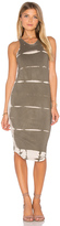 Monrow Ash Tie Dye Sporty Tank Dress