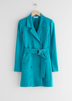 Thumbnail for your product : And other stories D-Ring Belted Mini Blazer Dress