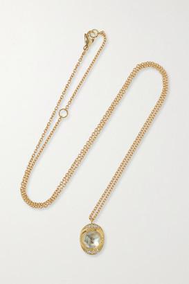 Brooke Gregson Orbit Halo 18-karat Gold, Moonstone And Diamond Necklace