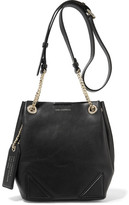 Karl Lagerfeld K/slouchy Small Leather Shoulder Bag - Black