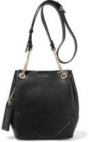 Karl Lagerfeld K/slouchy Small Leather Shoulder Bag - Black