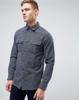 Jack and Jones Vintage Shirt In Heavy Textured Fabric In Regular Fit