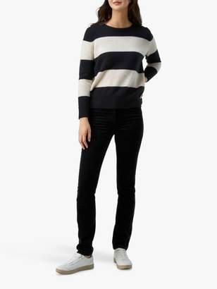 Pure Collection Slim Leg Jeans, Black Corduroy