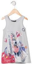 Little Marc Jacobs Girls' Cartoon Print Sleeveless Dress