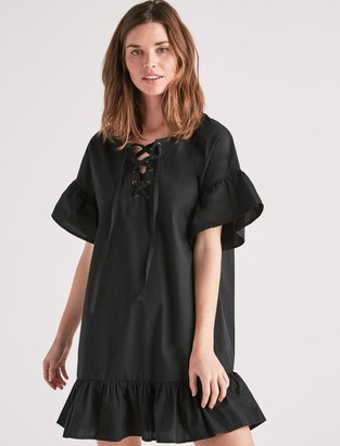 Lucky Brand Lace Up Dress
