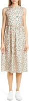 Marni Liz Floral Print Silk Twill Midi Dress