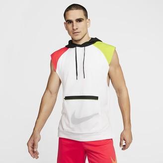 Nike Men's Sleeveless Fleece Training Hoodie Dri-FIT