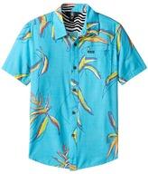 Volcom Motel Floral Short Sleeve Shirt Boy's Short Sleeve Button Up