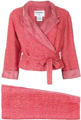 Chanel Pre Owned 1999 Tweed Skirt Suit