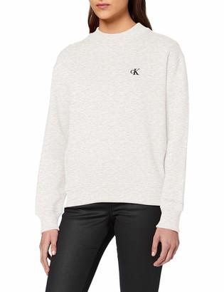 Calvin Klein Jeans Women's CK Embroidery Regular Crew Neck Sweater