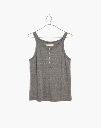 Madewell Rivet & Thread Triblend Henley Tank Top in Heathered Grey