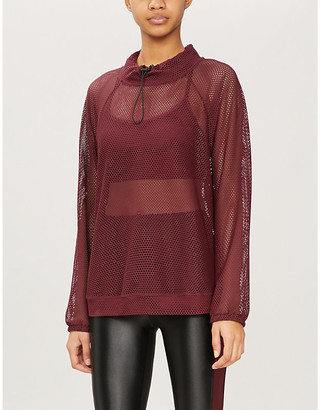 Koral Pump high-neck relaxed-fit stretch-jersey top