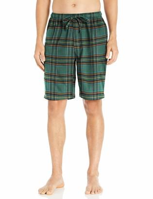 Goodthreads Flannel Pajama Short Green Tartan Medium