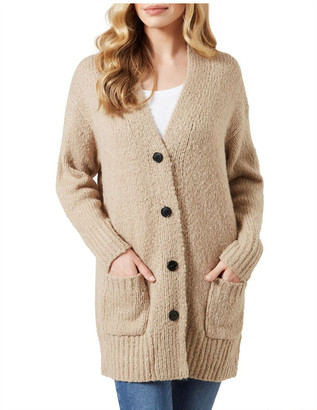French Connection Oversized Cardigan Cream
