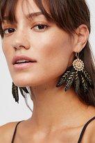 Free People Painted Feather Fan Earrings