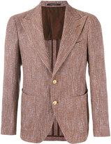 Tagliatore patch pocket blazer - men - Cotton/Linen/Flax/Elastodiene/Cupro - 48