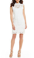 Laundry by Shelli Segal Mockneck Lace Sheath Dress